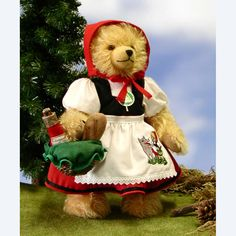 """'Little Red Riding Hood' Bear - For the 200th Anniversary of the   1st Edition 1812 of the   """"Children's and Household Tales""""  of the Brothers Grimm.  Limited Edition 250 pieces"""