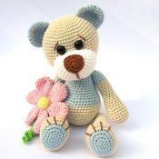 Teddy with Flower - via @Craftsy