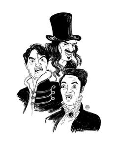 What We Do in the Shadows - portrait illustration by Denise Tolentino for Inktober 2019 Tags: illustration, digital portrait, black and white illustration, vampire movies, taika waititi, jemaine clement Shadow Portraits, Jemaine Clement, Taika Waititi, Black And White Illustration, Digital Portrait, Portrait Illustration, Inktober, Shadows, Illustrations