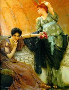 Learn more about Unconscious Rivals Detail Sir Lawrence Alma-Tadema - oil artwork, painted by one of the most celebrated masters in the history of art. Lawrence Alma Tadema, Architecture Antique, Painting Prints, Art Prints, Tarot, Dutch Painters, Irish Painters, Pre Raphaelite, Dutch Artists