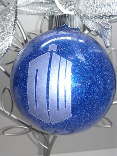 Dr. Who Christmas ornament personalizable by DesignsByDoty on Etsy, $5.99