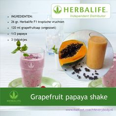 Herbalife shake recept met grapefruit sap en papaja