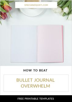 With hundreds of thousands of bullet journal pages, styles and ideas to inspire you, where do you begin and how do you beat bullet journal overwhelm? Click through for six ways to beat bullet journal overwhelm. Learn what you can do today to get started and continue bullet journaling with confidence!