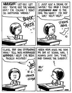Calvin And Hobbes Quotes, Calvin And Hobbes Comics, Snoopy Comics, Garfield Comics, Professor, Calvin And Hobbes Wallpaper, Chemistry Cat, Comics Love, Adventure Time Finn