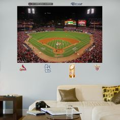 1000 images about stl cardinal 39 s bedroom on pinterest for Busch stadium wall mural