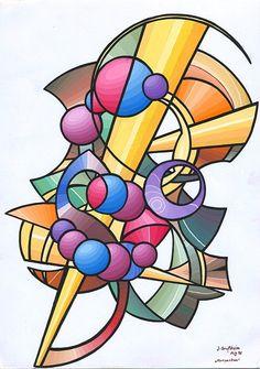 Komposition 1 (1998) Tempera auf Zeichenkarton 21 x 29,7 cm