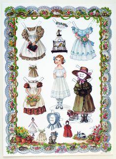 "RARE ""Little Amelia"" Paper Doll by Tasha Tudor Jenny Wren Press 1990"