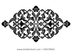 Find Inspired By Ottoman Decorative Arts Pattern stock images in HD and millions of other royalty-free stock photos, illustrations and vectors in the Shutterstock collection. Islamic Art Pattern, Pattern Art, Print Patterns, Pattern Designs, Retro Pattern, Motif Oriental, Lace Art, Arabesque Pattern, Plants