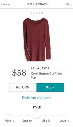 SF stylist: looks cozy for fall and have cute button detailing on sleeves.