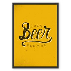 Poster Just beer, please de @koning | Colab55