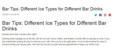http://www.commercialicemakers.com/blog/2017/10/bar-tips-different-ice-types-for-different-bar-drinks.html