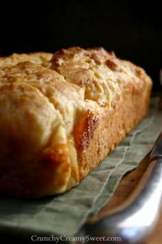 Apricot Swirl Quick Bread ~ Traditional quick bread gets a little makeover. Try this recipe for a high top bread with a crack running down the middle. Apricot preserves swirl is a nice surprise in every slice.