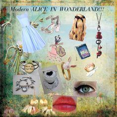 """Modern day Alice In Wonderland!!!"" by fashionrose214 on Polyvore"