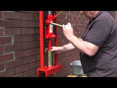 BRIQUETTE MAKER PAPER LOG BRICK JACK OPERATED - YouTube