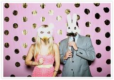 photo booth >> really want to have life-sized cardboard cutouts of us