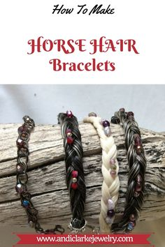 Horse Hair Bracelet, Horse Hair Jewelry, Cowgirl Jewelry, Hair Keepsake, Great Gifts For Guys, Horse Camp, Horse Horse, Armband Diy, Horseshoe Crafts