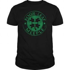 Four Leaf Meeple T Shirts, Hoodies. Get it now ==► https://www.sunfrog.com/Gamer/Four-Leaf-Meeple-Black-Guys.html?41382