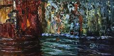 """River Wall   10"""" x 20""""   Oil Painting   If Interested, email me at lamerledeca@gmail.com"""