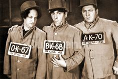 The Three Stooges - Moe and Curley Howard and Larry Fine