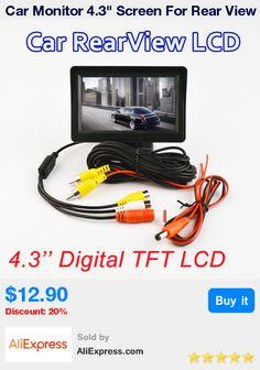 "Car Monitor 4.3"" Screen For Rear View Reverse Camera TFT LCD Display HD Digital Color 4.3 Inch PAL/NTSC  * Pub Date: 22:45 Jul 3 2017"