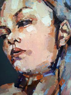 head detail, oil on canvas, 90x90cm