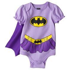 Too Cute!!! Batgirl Newborn Girls' Short-sleeve Bodysuit w/Cape from Target