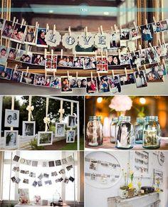 Geschenk - Et si tu affichais tes photos de famille à ton mariage ? - Organiser un mariage , Wedding Notes, Diy Wedding, Rustic Wedding, Dream Wedding, Wedding Day, Anniversary Parties, Wedding Anniversary, Romantic Wedding Inspiration, Photo Displays