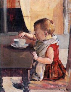 Child At The Table-Ferdinand Hodler (1853 – 1918, Swiss)