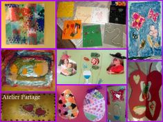 Various art-creations by a 5 years old girl at Atelier Partage :)