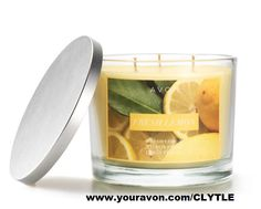 Fresh Lemon Candle $19.99 Smells like Spring! Fill your home with this spring-infused candle with notes of warm vanilla and juicy lemon. Fill your home with fresh lemons and zest. #ShopFromHome #ILoveAvon #Avon  Get it at