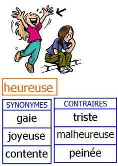 Synonymes et antonymes CE1