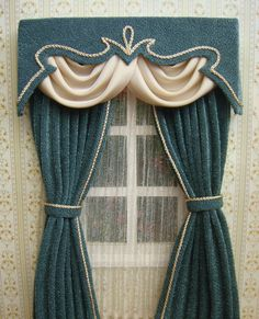 Miniature 112 Dollhouse curtains on order by TanyaShevtsova