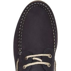 Premium nubuck upper Rounded apron toe Lace-up front Leather lining White sole
