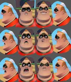 Sam Nielson Infinity Mr Incredible Expressions ✤ || CHARACTER DESIGN REFERENCES | キャラクターデザイン • Find more at https://www.facebook.com/CharacterDesignReferences if you're looking for: #lineart #art #character #design #illustration #expressions #best #animation #drawing #archive #library #reference #anatomy #traditional #sketch #development #artist #pose #settei #gestures #how #to #tutorial #comics #conceptart #modelsheet #cartoon || ✤