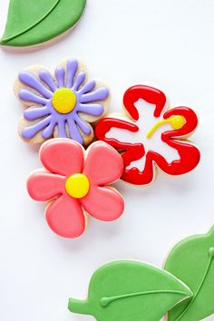 Cute Flower Cookies at Three Skill Levels ~ Craftsy