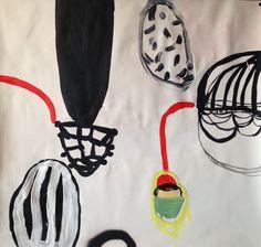 yasmine esfandiary 2014 acrylic on paper 70x75cm