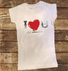 What a great way to show your support for Heart Awareness Month! This shirt can be made on a unisex shirt or a girls fitted shirt. Please just leave note at checkout. If you would like this in longsle