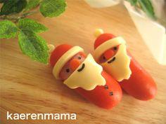 Santa Claus made of sausage Christmas Party Food, Xmas Food, Christmas Cooking, Food Art For Kids, Cute Bento, Bento Recipes, My Best Recipe, Food Humor, Bento Box