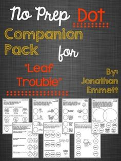 "'No Prep Dot Companion Pack for ""Leaf Trouble""' targets attributes, comparing/contrasting, vocabulary, antonyms, synonyms, multiple meaning words, direction following related to concepts, naming and categorization, subject-verb agreement, AND comprehension!!!!"
