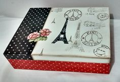 Decoupage Vintage, Decoupage Box, Crafts To Sell, Diy And Crafts, Aluminum Foil Art, Altered Cigar Boxes, Sweet Box, Shabby Chic Crafts, Country Art