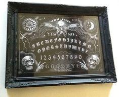 Ouija Board Spirit Board Gothic Art Steampunk by MarcusJonesArt Victorian Gothic Decor, Gothic Interior, Gothic Bedroom, Gothic House, Gothic Art, Dark Home Decor, Gothic Home Decor, Art Steampunk, Goth Home