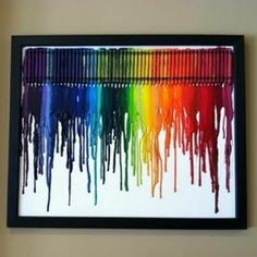 melted crayon art...looks pretty cool