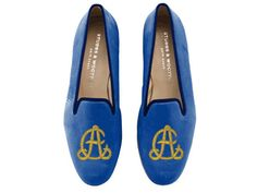 i kinda like these... Stubbs & Wootton monogrammed slippers. ($600 or $900, depending on stitching)