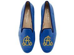 Monogrammed slippers.