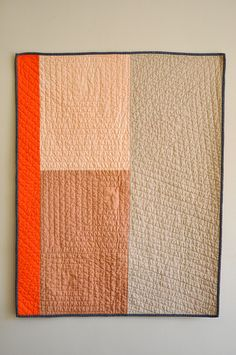 Debbie's Whole Cloth Quilt by the workroom, via Flickr