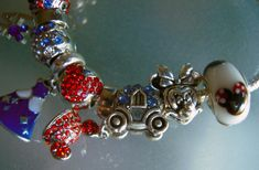 Pearl With Silver Necklace Product Silver Jewelry Cleaner, Jewelry Stores, Red And Blue, Cinderella Princess, Pearls, Charm Bracelets, Disney, Mickey Mouse, Ebay