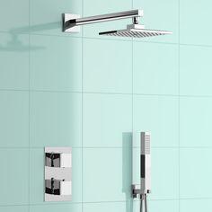 Mixer Shower | Thermostatic Mixer Showers | BathEmpire Steam Showers Bathroom, Bathroom Sets, Bathroom Fixtures, Bathrooms, Mixer Shower, Steam Spa, Shower Kits, Infrared Sauna, Shower Valve