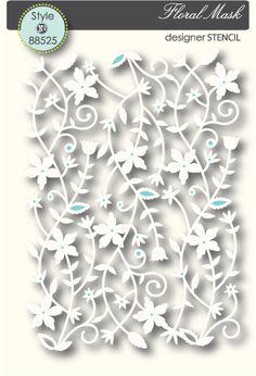 Memory Box Floral Mesh - Stencil