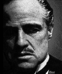 Godfather Marlon Brando Photograph  - Godfather Marlon Brando Fine Art Print. Black and white