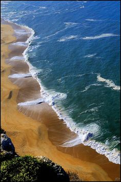 Sandy Beach, Nazare, Portugal